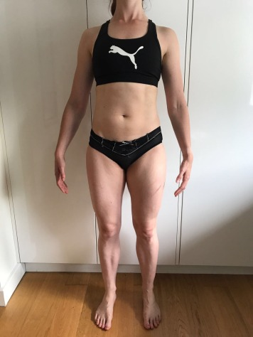 Running In Glass Shoes Bikini Fitness Goal Month 2 Progress Photo Front