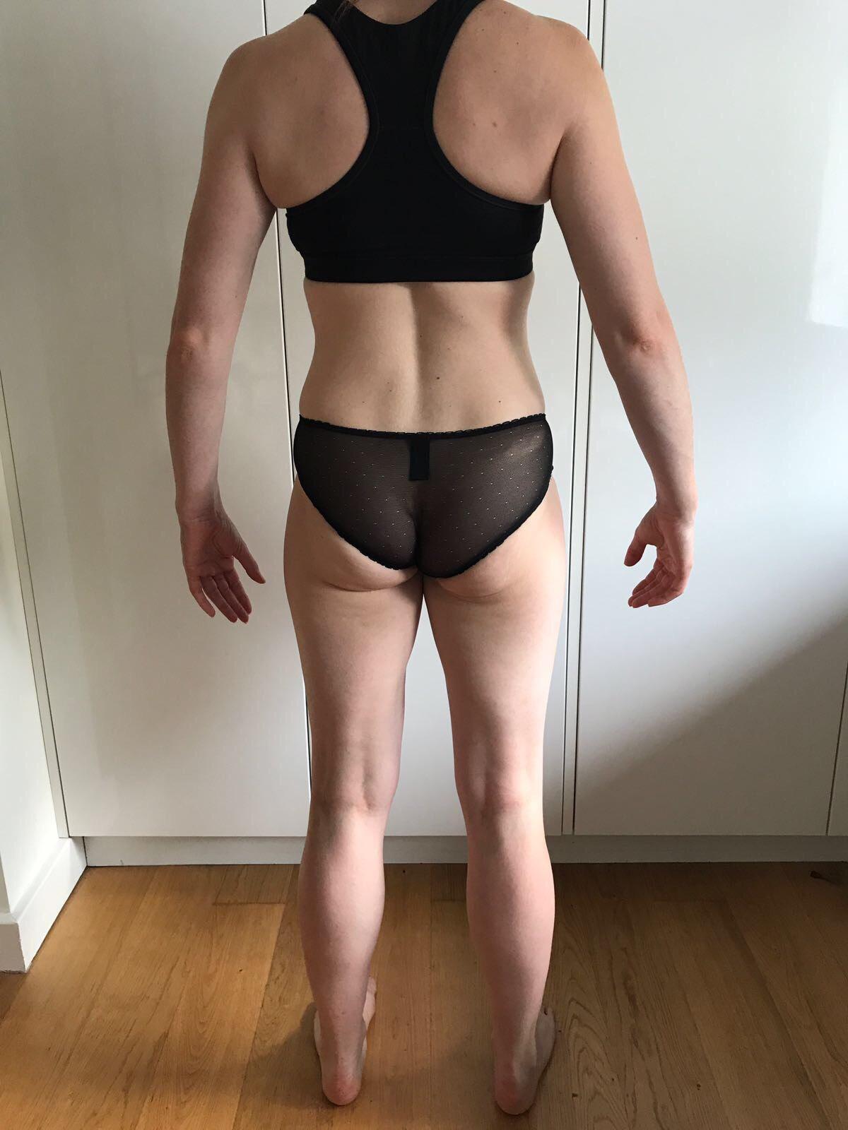 Running In Glass Shoes Bikini Fitness Goal Month 2 Progress Photo Back