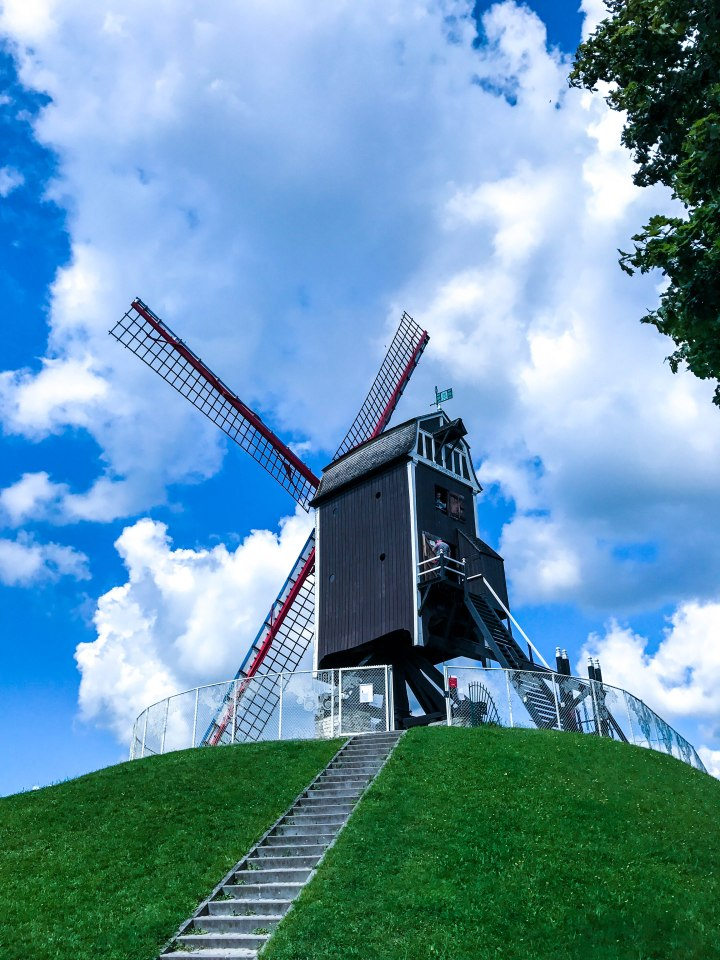 Running In Glass Shoes Travel Fit Bruges Windmill