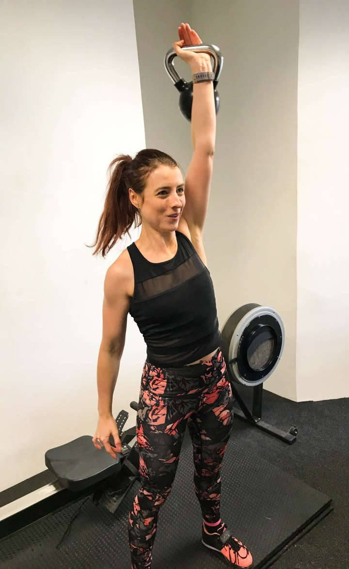 Running In Glass Shoes Fitness Blog Kettlebell Push Press