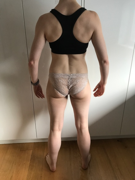 Running In Glass Shoes Bikini Fitness Goal Check In Progress Photo Back Month 5