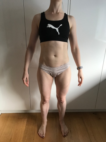Running In Glass Shoes Bikini Fitness Goal Check In Month 5 Front