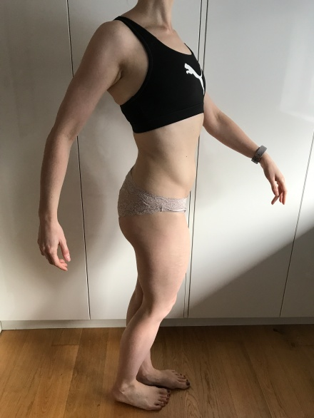 Running In Glass Shoes Bikini Progress Photo Side Month 5
