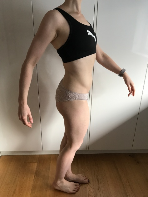 Running In Glass Shoes Bikini Progress Photo Side Month 5