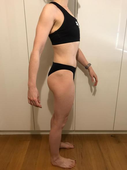 Running In Glass Shoes Bikini Fitness Check-In Month 6 Side