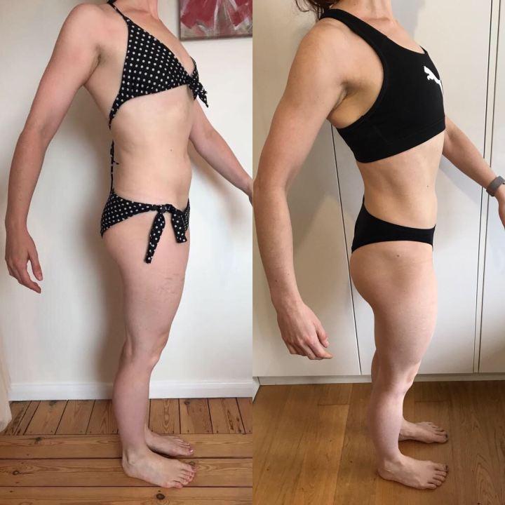 Running In Glass Shoes Fitness Blog Bikini Fitness Goal Progress Photo